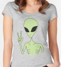peace alien Women's Fitted Scoop T-Shirt