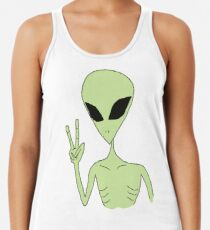 Camiseta con espalda nadadora paz alien