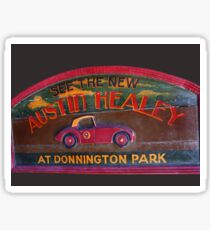Austin Healey at Donnington Park Sticker