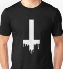 dripping cross white Unisex T-Shirt