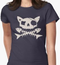 Cat Pirate Jolly Roger Women's Fitted T-Shirt