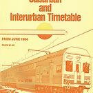1984 Vintage Train Timetable by Phillip Overton