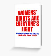 Womens' Rights are Everyone's Fight Unisex Greeting Card