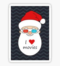 Smiling Santa Claus 4 Sticker