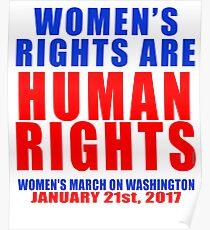 Frauenrechte sind Menschenrechte Unisex Poster