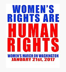 Womens' Rights are Human Rights Unisex Photographic Print