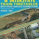 1980 Vintage Train Timetable by Phillip Overton