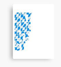 Oktoberfest text flag blue white pattern party celebrate design cool Canvas Print