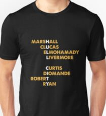 HULL CITY spelt using player names 2 Unisex T-Shirt