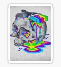 Trippy Rainbow Skull Sticker