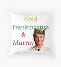 Gold, Frankincense & Murray Throw Pillow