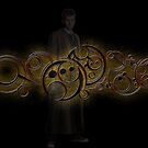 Tenth Doctor Who Gold Graphic by sandmgaming