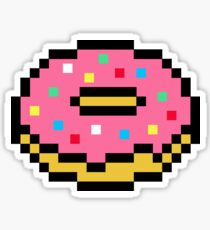 Pixel Doughnut Stickers Redbubble