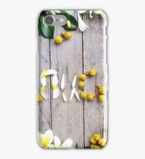 Frangipanis & Mallotus Nesophillus iPhone Case/Skin
