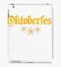 oktoberfest edelweiss flower bavaria party celebrate text shirt cool design iPad Case/Skin