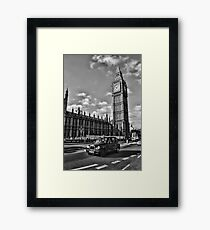 London Black Cab Framed Print