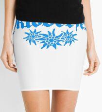 oktoberfest edelweiss flower bavaria party celebrate text shirt cool design Mini Skirt