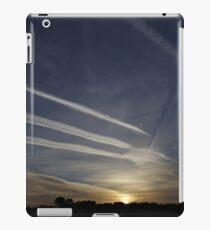 Sunrise and chemtrails iPad Case/Skin