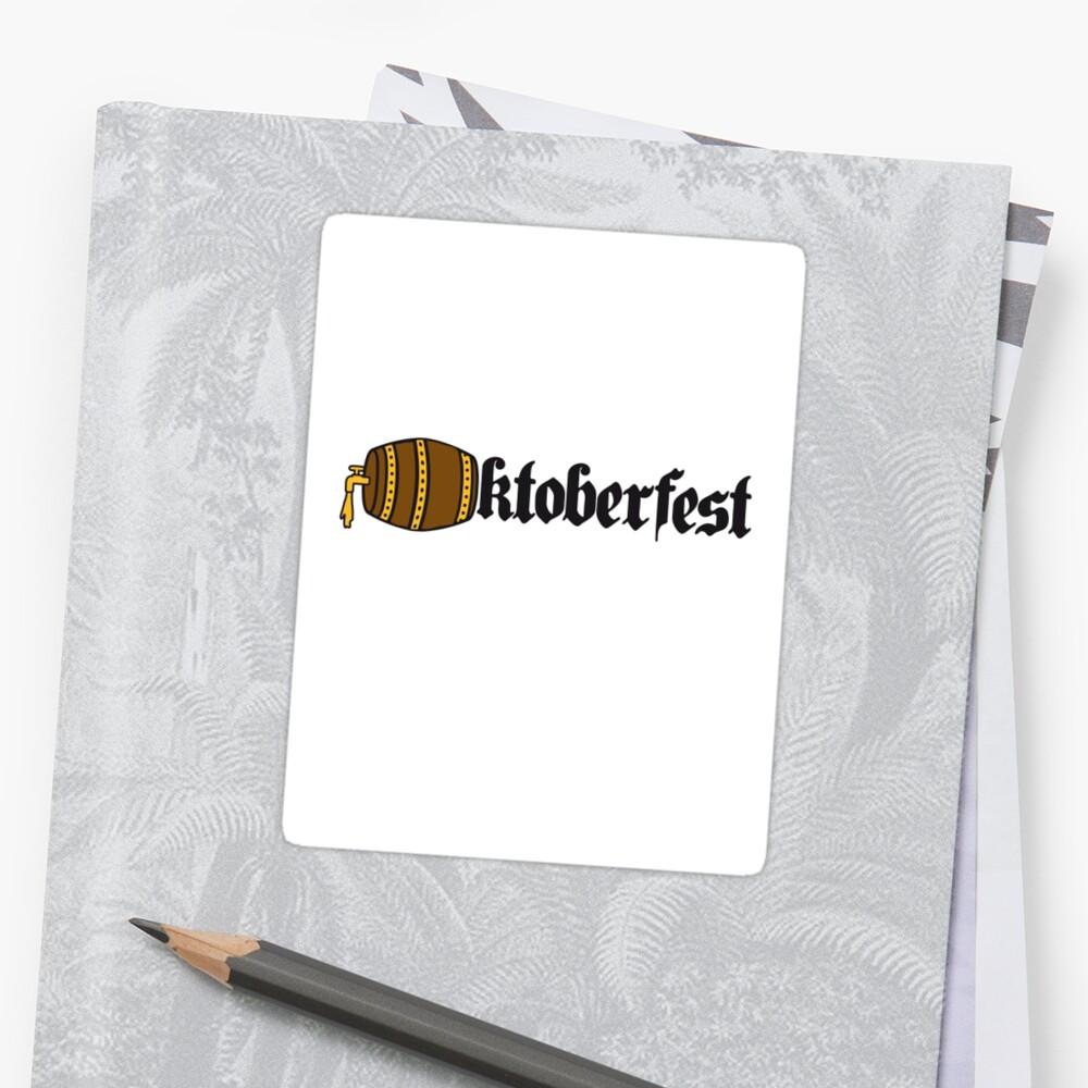 Oktoberfest beer booze drink alcohol barrel bavaria party celebrate text shirt cool design by Motiv-Lady