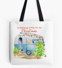 Beginning to look a lot like Christmas. Tote Bag