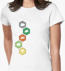 Settlers of Catan - Resource Tiles Women's Fitted T-Shirt
