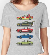 Stack of FlAT X1/9 Mid Engine Sport Cars Women's Relaxed Fit T-Shirt