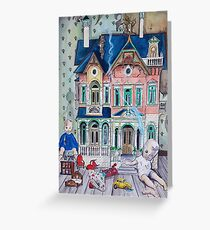Dollhouse Ghosts Greeting Card