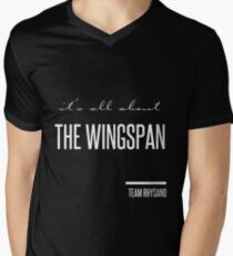 it's all about the wingspan Men's V-Neck T-Shirt