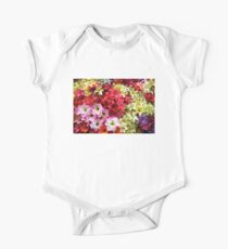 Colorful Summer Flowers One Piece - Short Sleeve