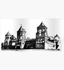 Minsk, Belarus, Europe. historic castle.  Poster