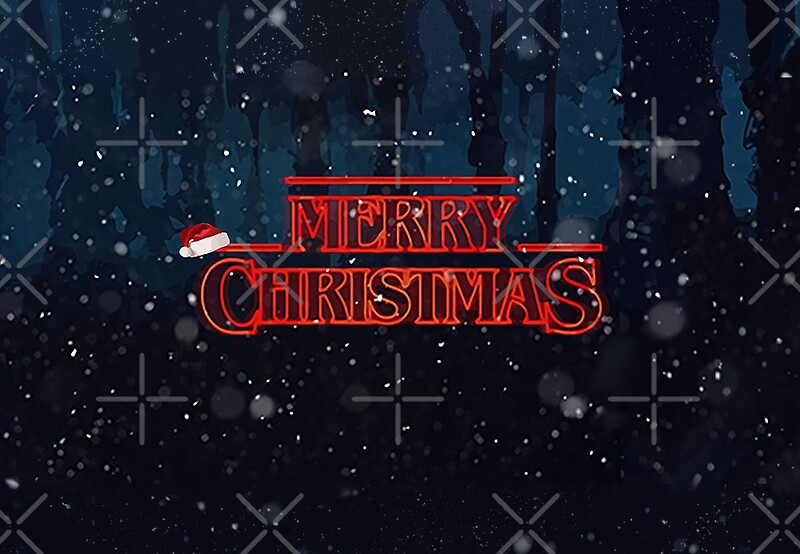 Stranger Things Christmas Card Greeting Cards By