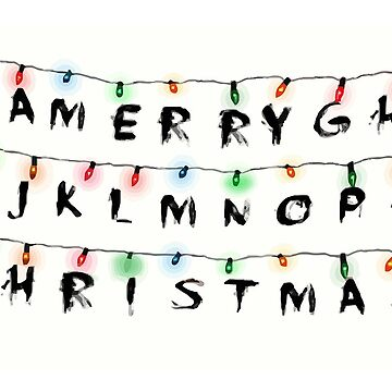 Stranger Things Christmas Card by stilldan97