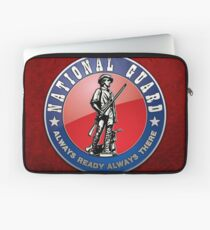 US National Guard (NG) Emblem 3D on Red Velvet Laptop Sleeve