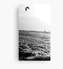 Kite Surfer B&W Canvas Print