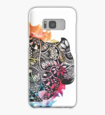Wombat with Dododoodles and Watercolour Samsung Galaxy Case/Skin