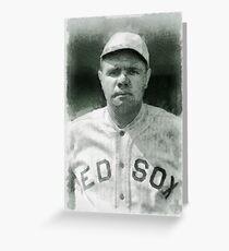 Babe Ruth, Baseball Player Greeting Card