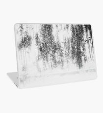 Snowy Evergreens Laptop Skin