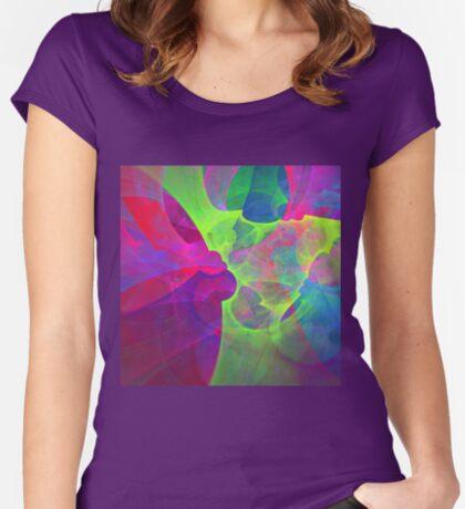 #Fractal Art Women's Fitted Scoop T-Shirt
