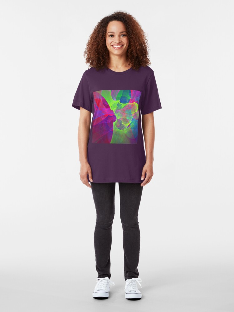 Alternate view of #Fractal Art Slim Fit T-Shirt