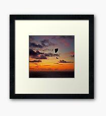 Sunset On The Cliffs Above Framed Print