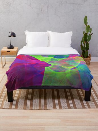 #Fractal Art Throw Blanket