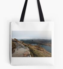 Mountain path with a view Tote Bag