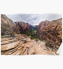 Angel's Landing, Zion National Park Poster
