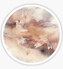 Pastel Origami Birds Sticker
