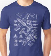 P-40 Concept Blueprints T-Shirt
