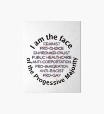 I am the Progressive Majority 01 Art Board