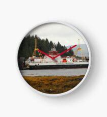 MV Loch Fyne approaching Fishnish Clock