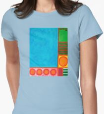 Refreshing Blue  Womens Fitted T-Shirt