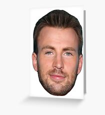 Chris Evans Greeting Card