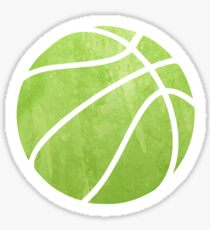Basketball Green Sticker